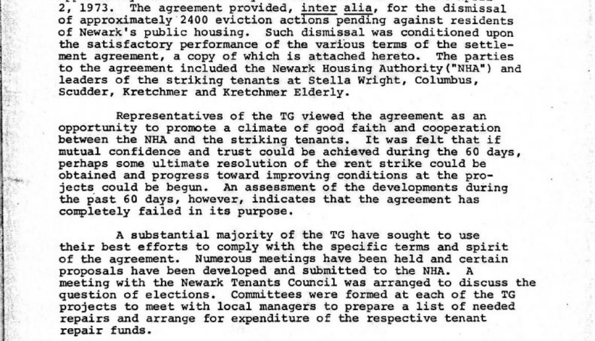 thumbnail of The 60 Day Interim Rent Strike Settlement (May 31, 1973)