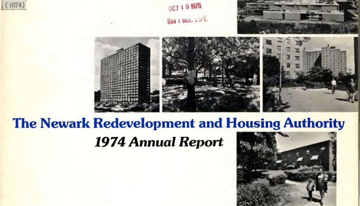thumbnail of The Newark Redevelopment and Housing Authority 1974 Annual Report