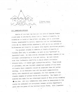 Press release issued by Amiri Baraka's Temple of Kawaida in July 1973 describing physical attacks upon members of the Temple of Kawaida and Black laborers at the construction of Kawaida Towers. Kawaida Towers, a high-rise housing project that Baraka planned to build in Newark's predominantly white North Ward, was met by fierce opposition from white residents and politicians. -- Credit: The Black Power Movement, Pt. 1 (microfilm)