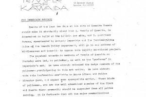Temple of Kawaida Press Release (July 1973)