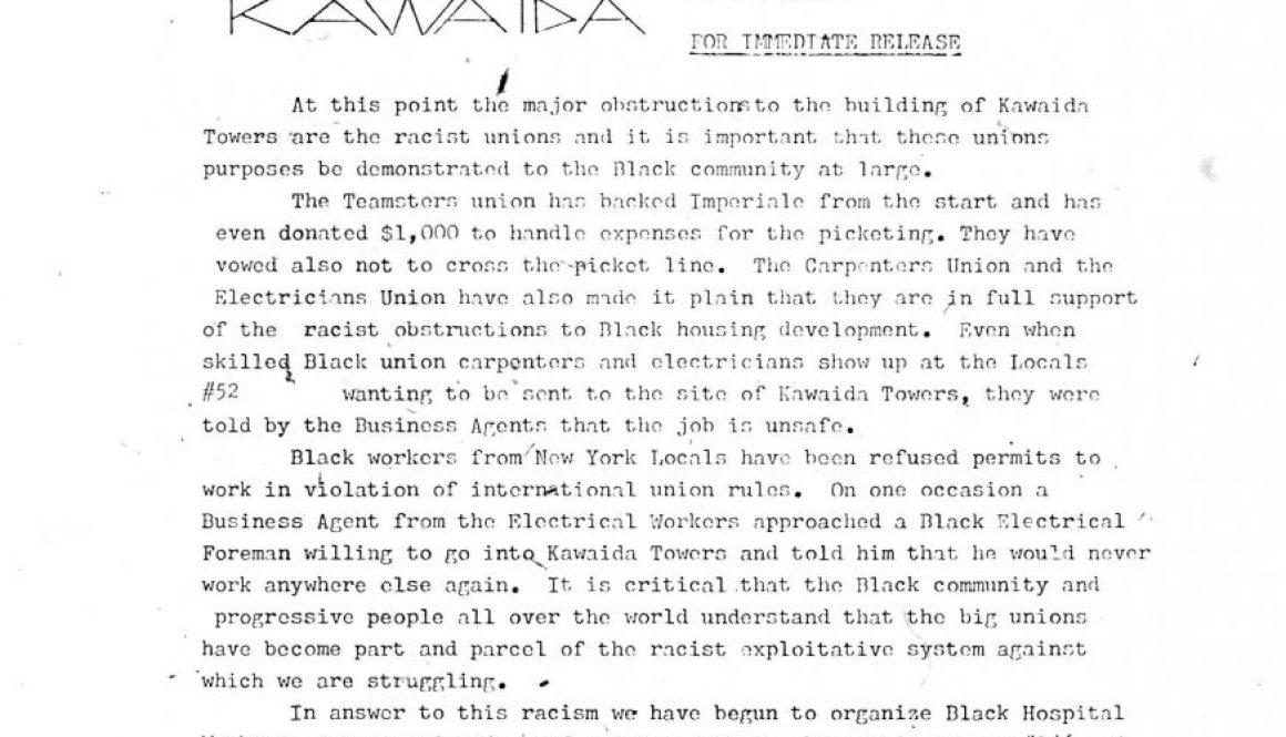 Temple of Kawaida Press Release (March 9, 1973)