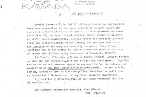 Temple of Kawaida Press Release (Nov 27, 1972)