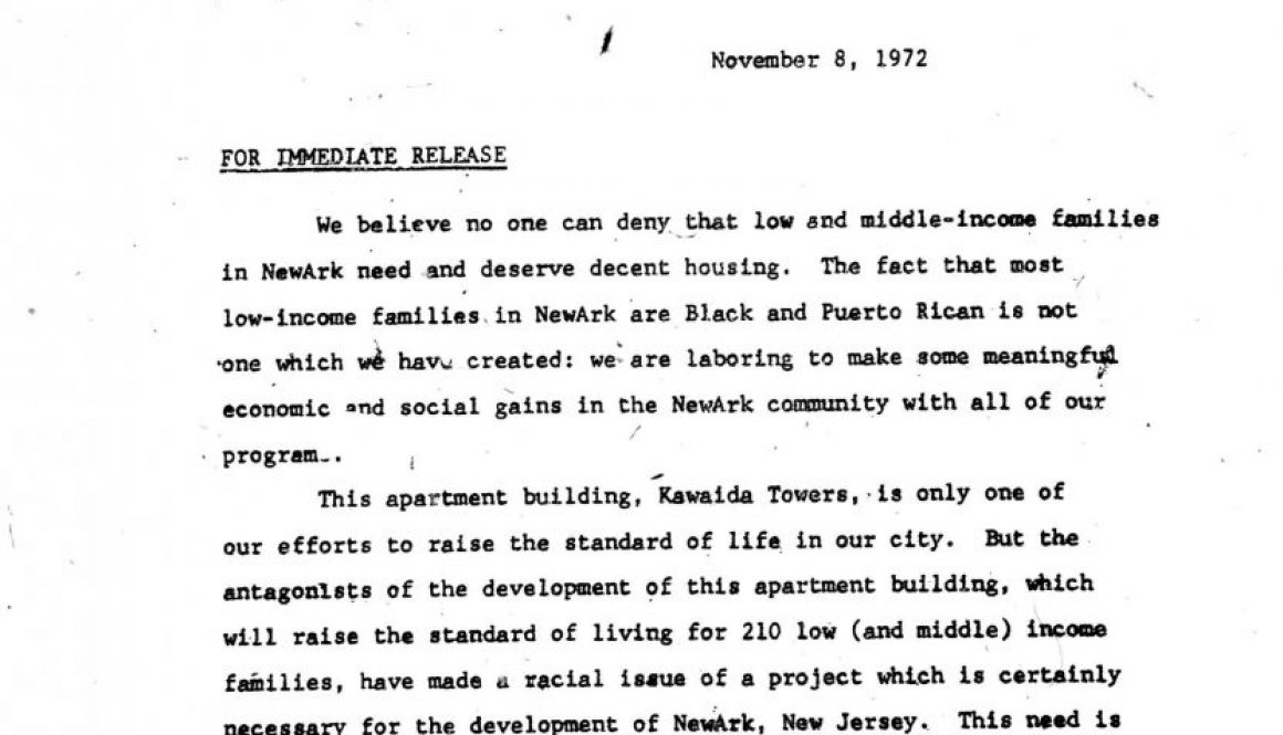 Temple of Kawaida Press Release (Nov 8, 1972)