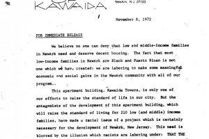 Temple of Kawaida Press Release (Nov 8, 1972)