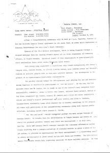 Press release issued by Amiri Baraka's Temple of Kawaida on October 8, 1972 to announce the groundbreaking ceremonies for Kawaida Towers. Kawaida Towers was a high-rise housing project that Baraka planned to build in Newark's predominantly white North Ward. -- Credit: The Black Power Movement, Pt. 1 (microfilm)