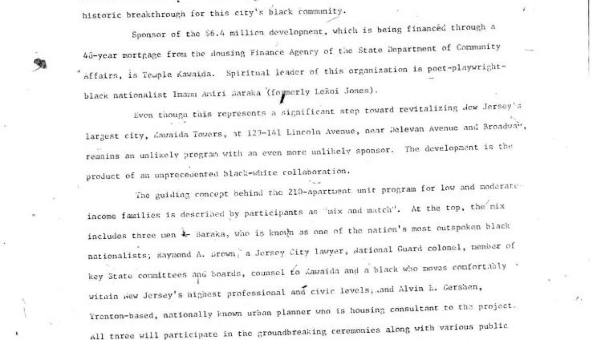 Temple of Kawaida Press Release (Oct 8, 1972)