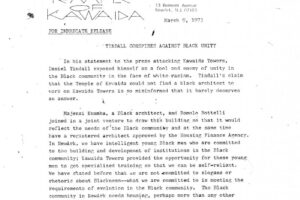 Temple of Kawaida Press Release- Tindall Conspires Against Black Unity (March 9, 1973)