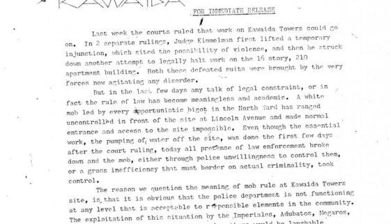 Thumbnail- Temple of Kawaida Press Release from Amiri Baraka (Nov 27, 1972)
