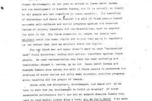 Temple of Kawaida Press Release on George Richardson