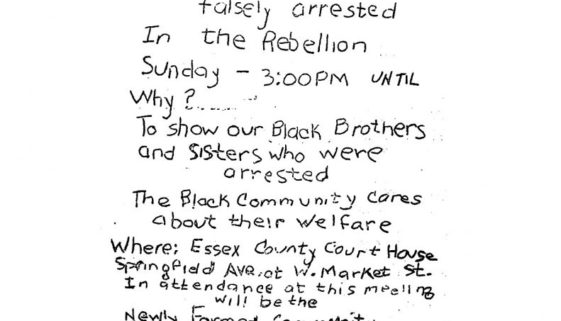 thumbnail of United Afro American Association Flyer- Sympathy Meeting to Free Rebellion Prisoners (1967)