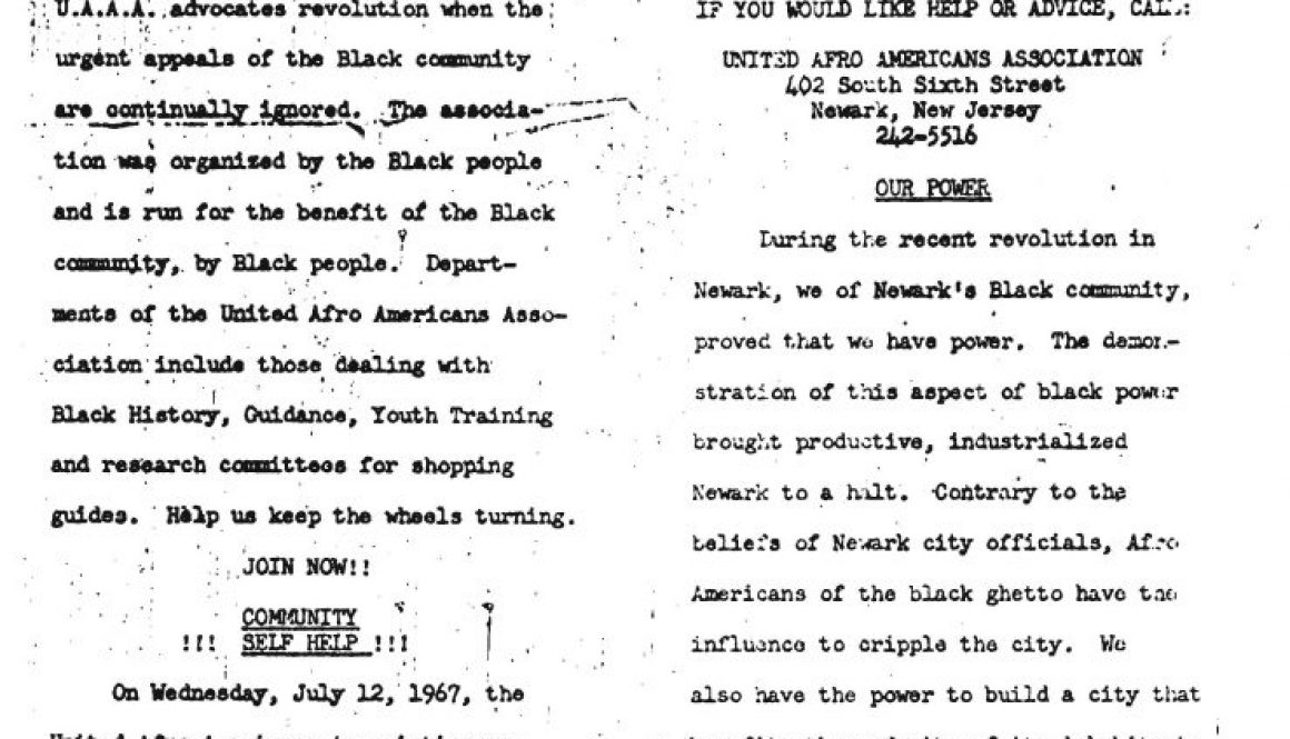 United Afro American Association Newsletter (1967)