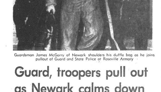 Thumbnail- Guard, troopers pull out as Newark calms down (Star-Ledger July 18, 1967)
