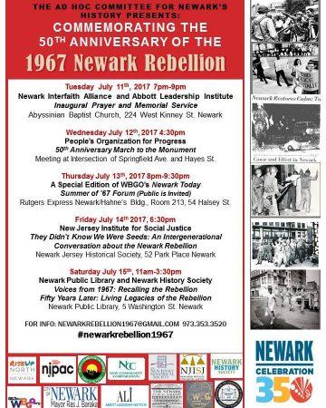1967 Newark Rebellion 50th Anniversary Program