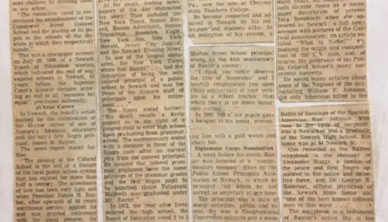 thumbnail of Last of Segregated Schools in City Abandoned in 1909 (Newark Evening News- Feb 12, 1967