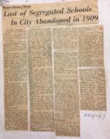 Last of Segregated Schools in City Abandoned in 1909 (Newark Evening News- Feb 12, 1967