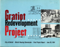 Gratiot Redevelopment Project Report_ 1964