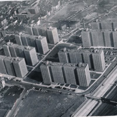 Aerial View of the Columbus Homes, 1957
