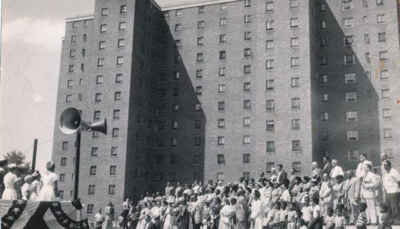 Hayes Homes Dedication Ceremony, 1954-min