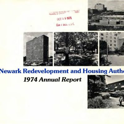The Newark Redevelopment and Housing Authority 1974 Annual Report