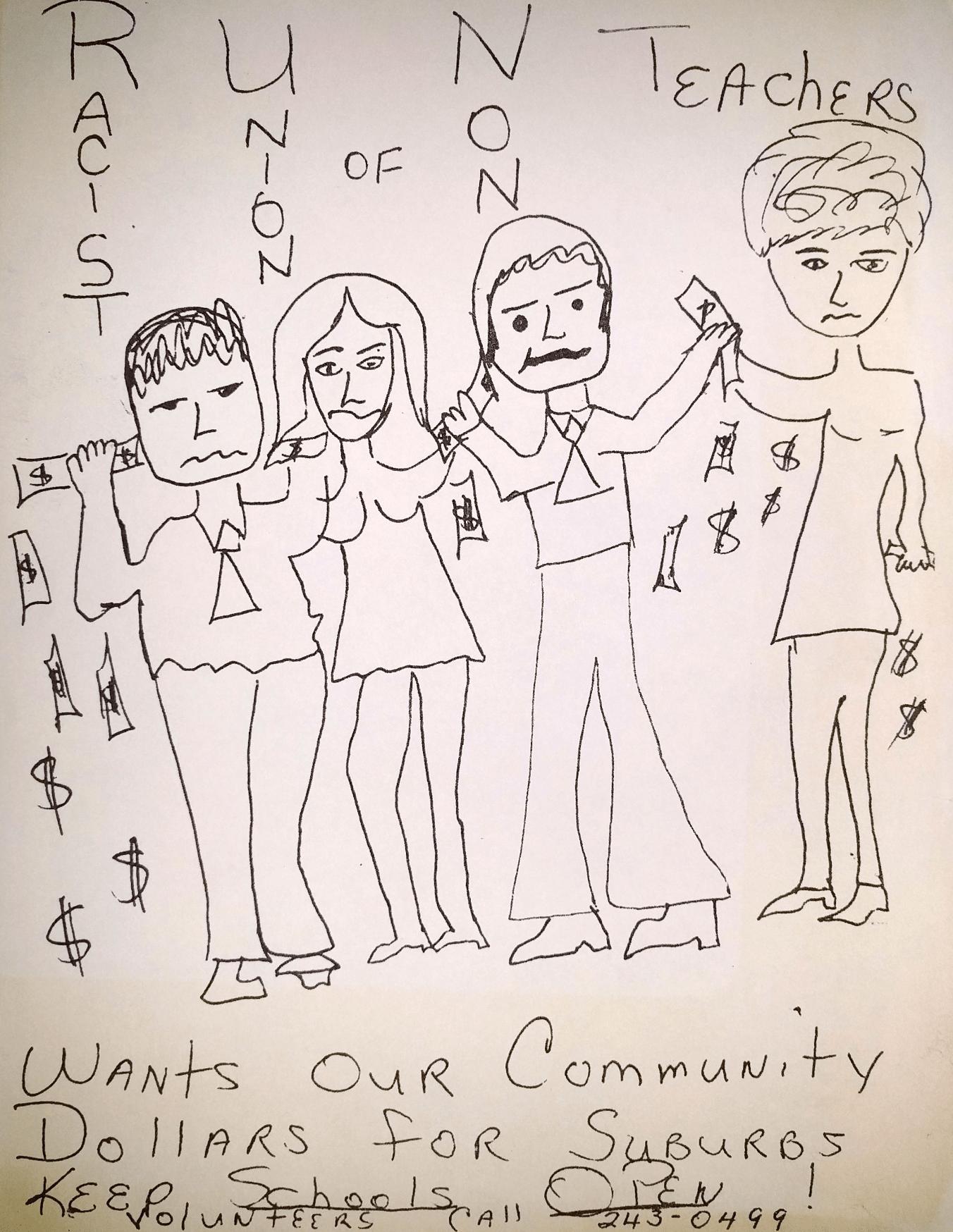 Newark Teacher Union Strike Flyer