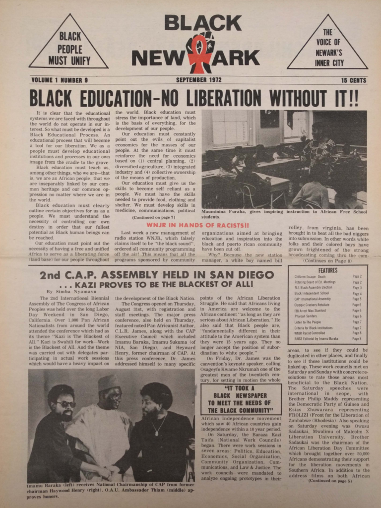Black New Ark (Sept 1972)