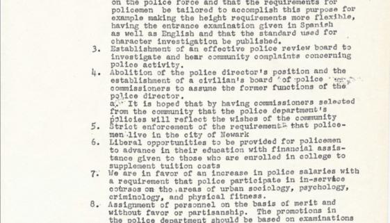 Black and Puerto Rican Convention_Law Enforcement Platform_1969-min