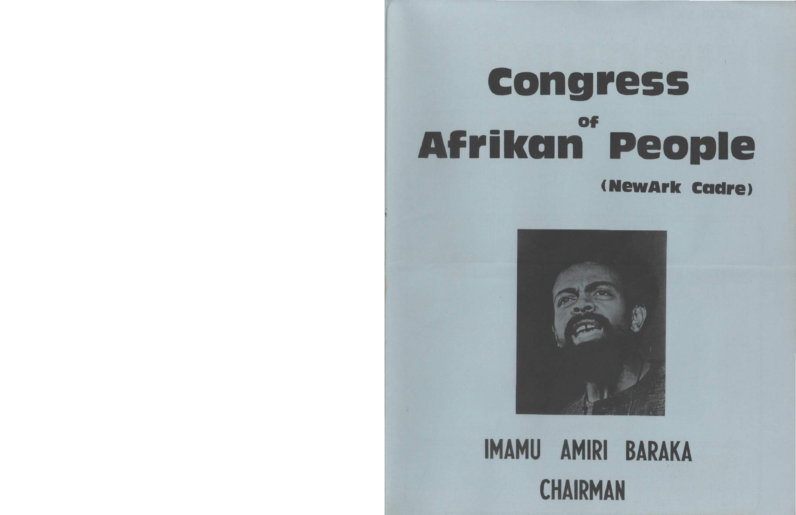 Congress of African People Booklet