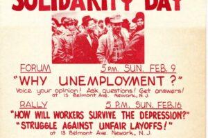 CAP Flyer for Worker's Solidarity Day (1975)