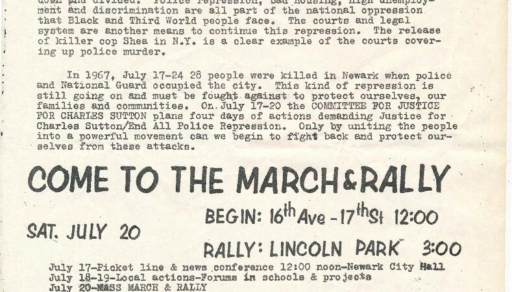 thumbnail of Flyer for Charles Sutton Rally (1974)-min