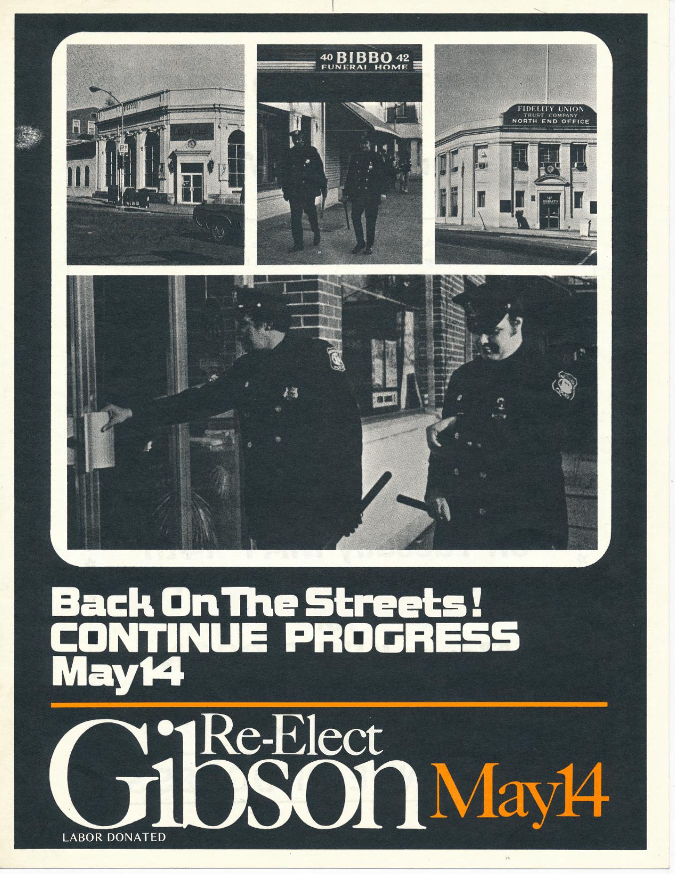 Ken Gibson Campaign Flyer (1974)