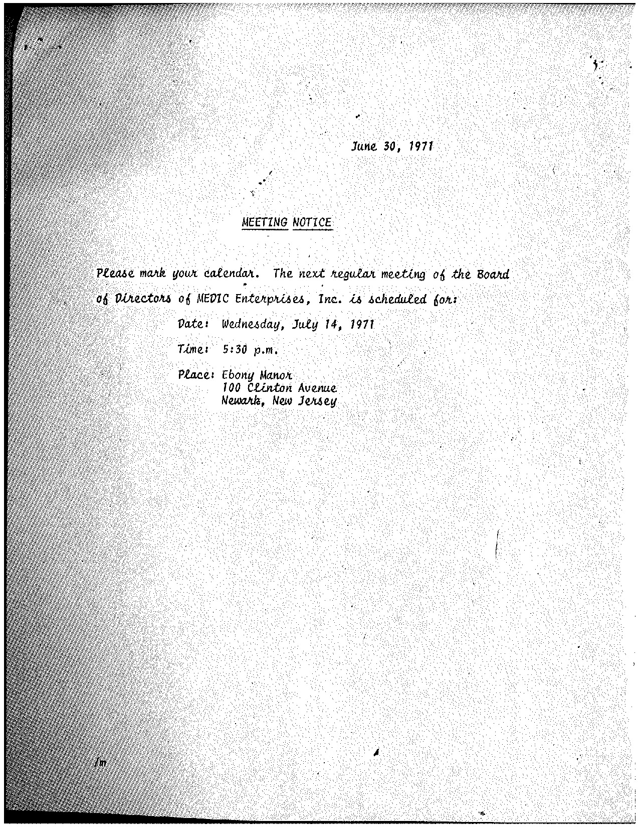 MEDIC Board Meeting Minutes (June 1971)