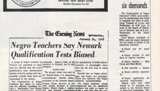 Organization of Negro Educators Leaflet (1968)-min