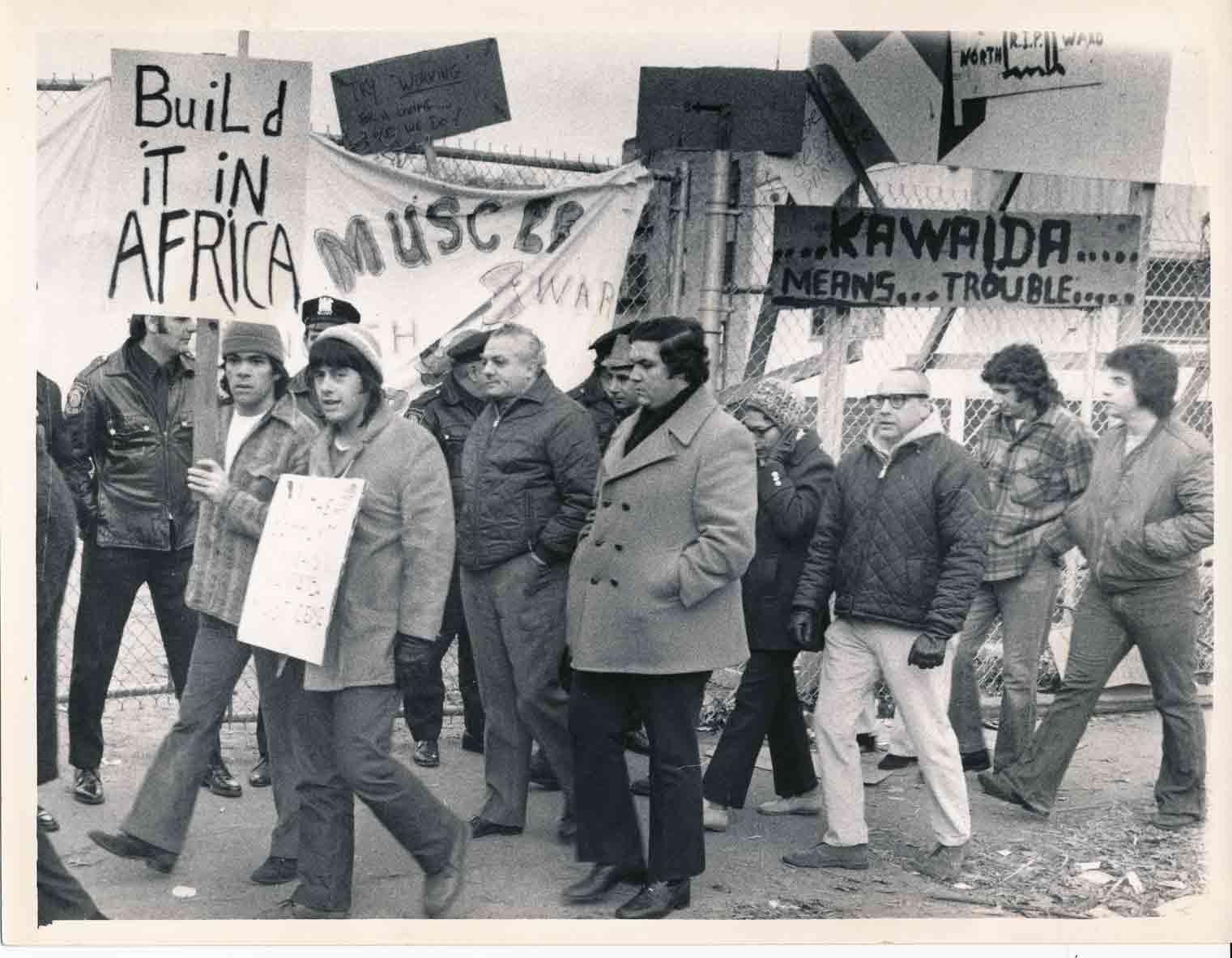 Pickets at Kawaida Towers (1972)