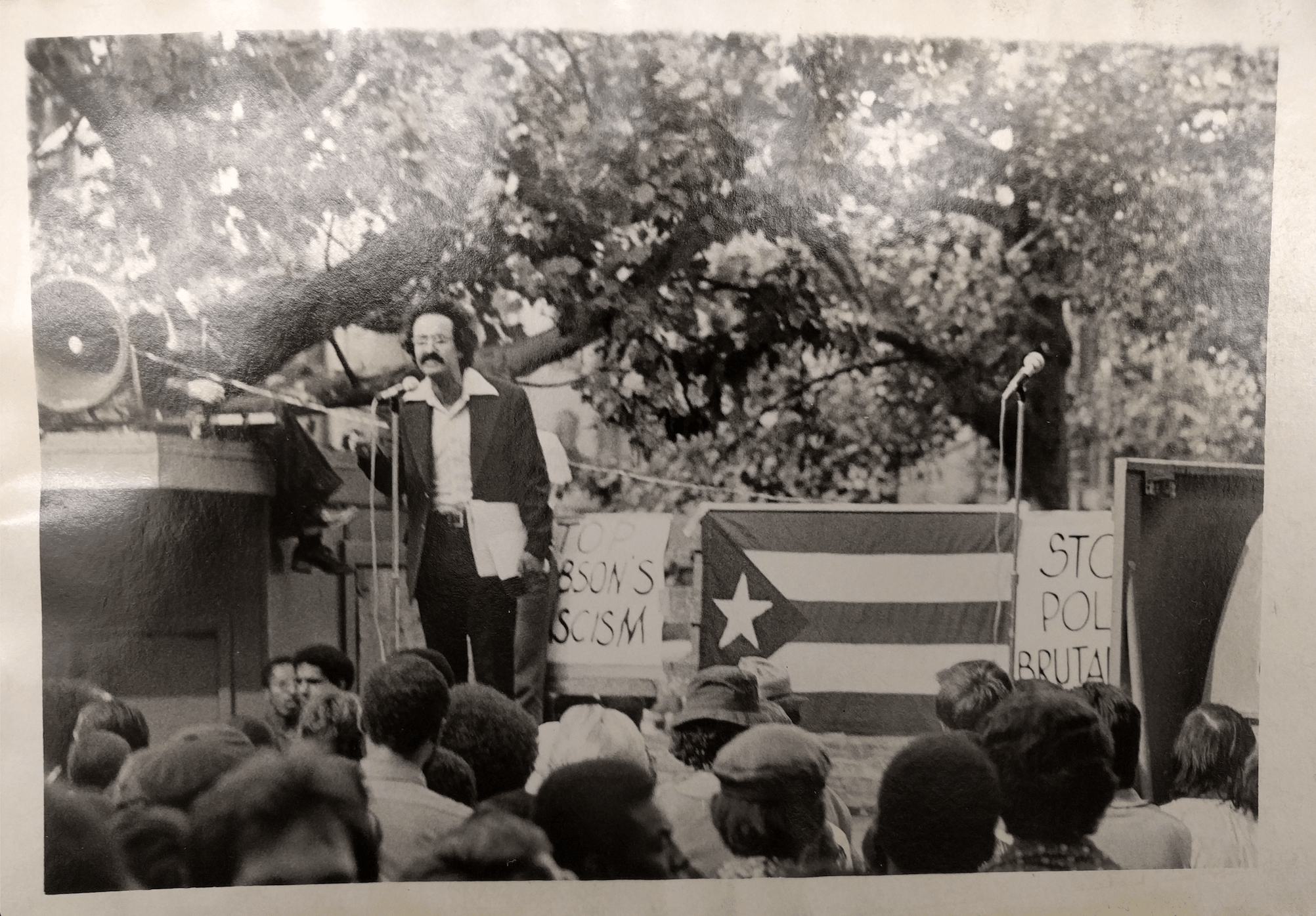 Sigfredo Carrion Speaks at Rally (1974)