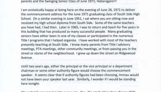 South Side High School- The Personification of a Black Future, by Fred Means (June 28, 1971)-min