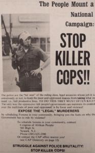 Stop Killer Cops Ad (Unity and Struggle, November 1974)-min