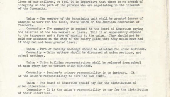 The New Ark Community Coalition Statement on Newark Teachers' Union Strike (February 17, 1970)-min
