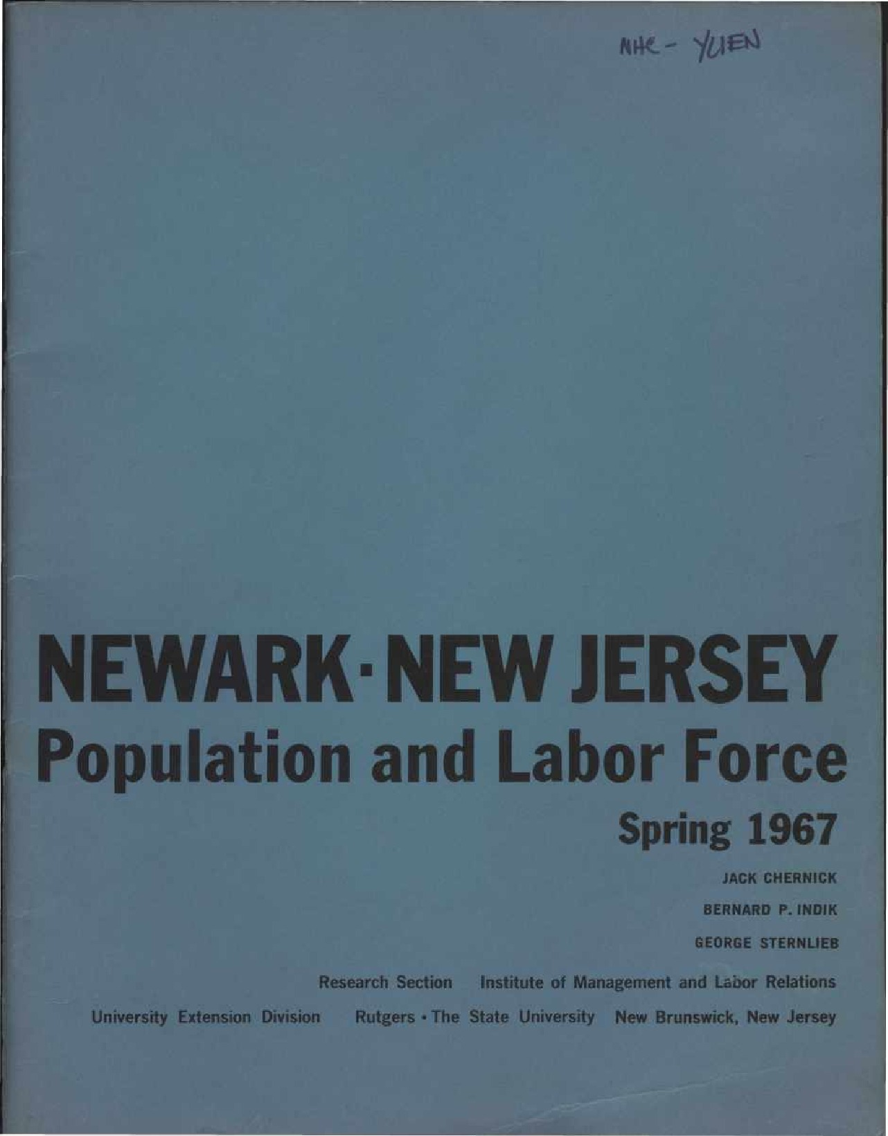 Newark Population and Labor Force (1967)
