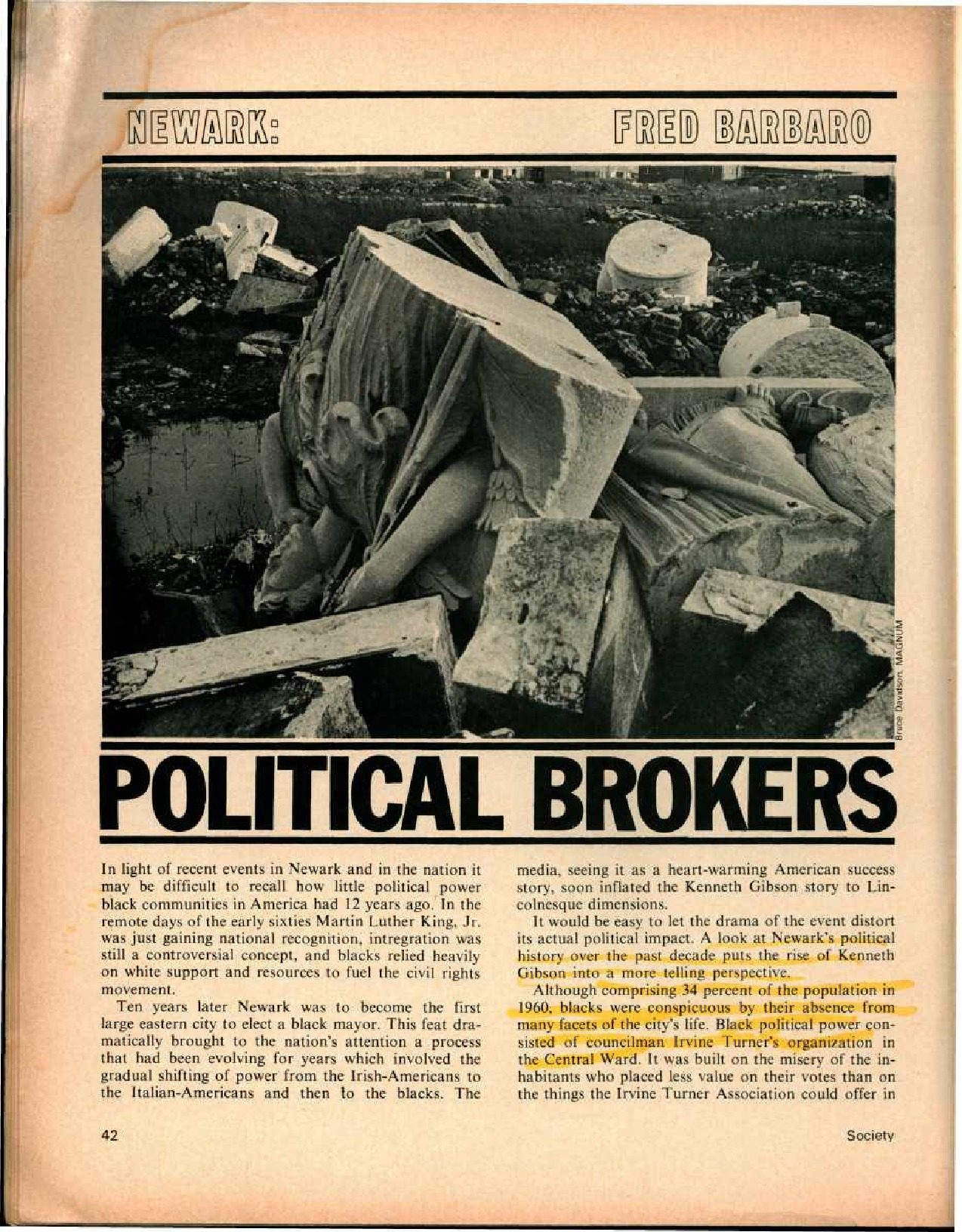 Newark: Political Brokers (1972)