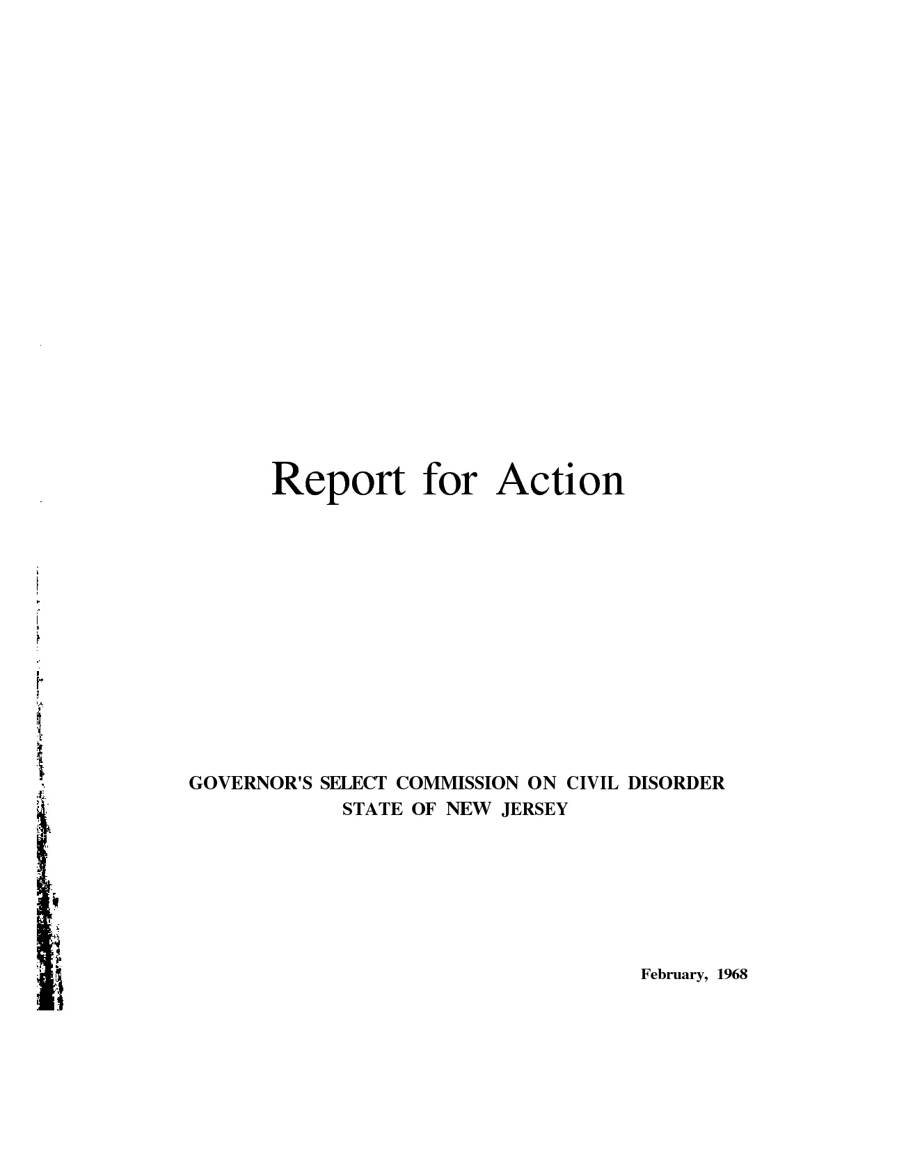 Report for Action (1968)