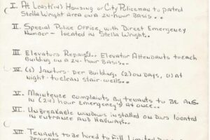 thumbnail of Stella Wright Tenant Association Partial Demands List_1970-compressed